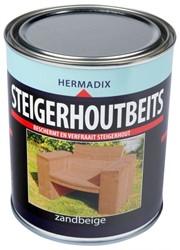 Hermadix steigerhoutbeits, transparant, zandbeige, blik 0,75 liter