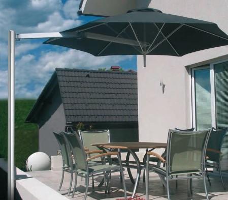 Umbrosa Paraflex parasol, hexagonaal, 220 cm, Premium Nero (zwart)