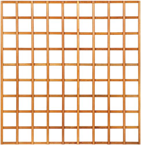Trellisscherm recht, afm. 180 x 180 cm, hardhout