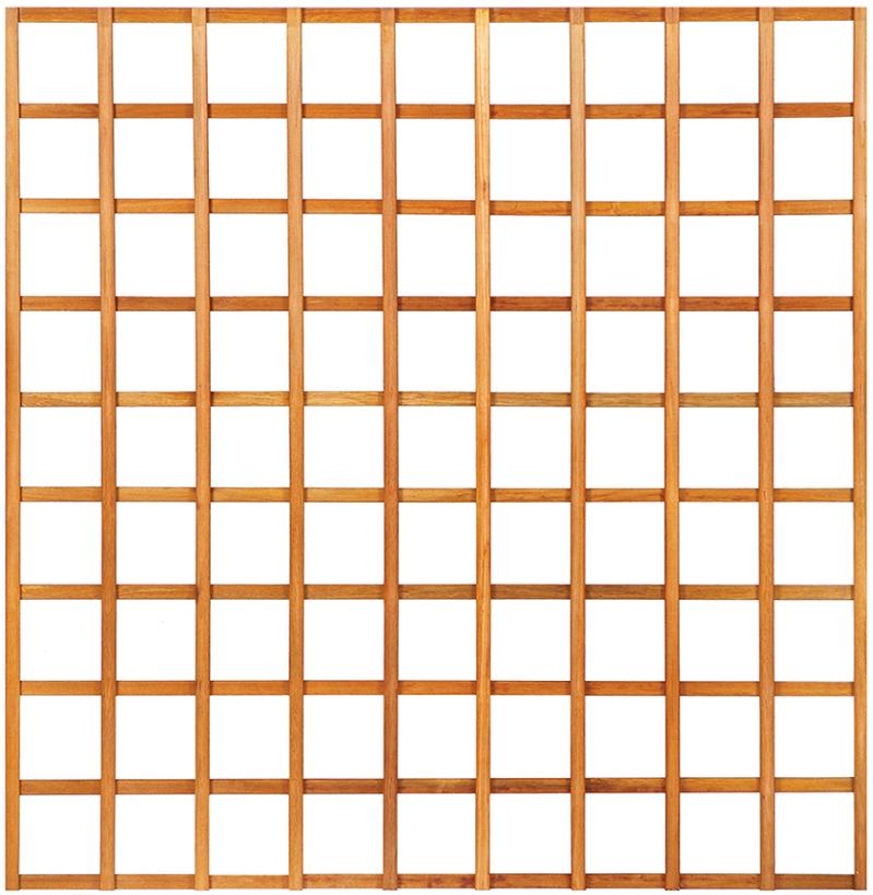 Kühlkamp Trellisscherm recht, afm. 180 x 180 cm, hardhout