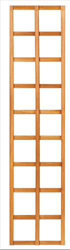 Trellisscherm recht, afm.   40 x 180 cm, hardhout