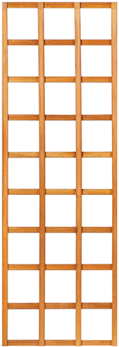 Trellisscherm recht, afm.   60x 180 cm, hardhout