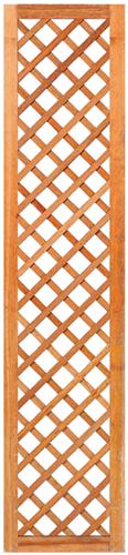 Trellisscherm diagonaal, afm.    40 x 180 cm, hardhout
