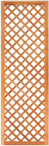 Trellisscherm diagonaal, afm.  60 x 180 cm, hardhout