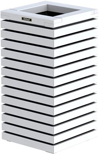 Hillhout Elan zuilbloembak, afm. 40 x 40 x  72 cm, vuren, wit