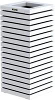 Hillhout Elan zuilbloembak, afm. 40 x 40 x  93 cm, vuren, wit-1