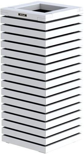 Hillhout Elan zuilbloembak, afm. 40 x 40 x  93 cm, vuren, wit