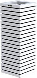 Hillhout Elan zuilbloembak, afm. 40 x 40 x 109 cm, vuren, wit