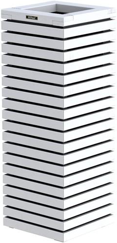 Hillhout Elan zuilbloembak, afm. 40 x 40 x 109 cm, vuren, wit-1