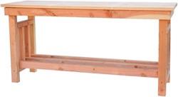 Hillhout decoratietafel, afm. 167 x 50 cm, hoogte 80 cm, douglas blank