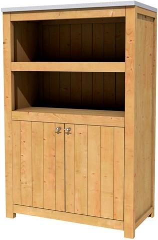 Hillhout tuinkast/buitenkeuken, afm. 109 x 56 cm, hoogte 168 cm, douglas-1