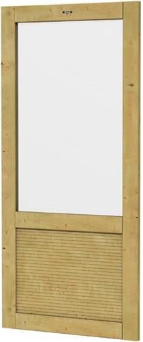 Hillhout wandelement Design Excellent met groot raam, afm. 101 x 218 cm, geïmpregneerd vuren