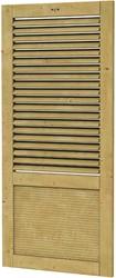 Hillhout wandelement Design Excellent met shutters, afm. 101 x 218 cm, geïmpregneerd vuren