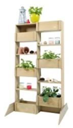 Woodvision minigarden verticaal, afm. 80 x 42 x 140 cm, geïmpregneerd grenen