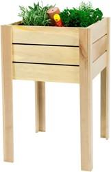 Woodvision minigarden op poten, afm. 50 x 50 x 80 cm, geïmpregneerd grenen