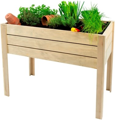 Woodvision minigarden op poten, afm. 100 x 50 x 80 cm, geïmpregneerd grenen