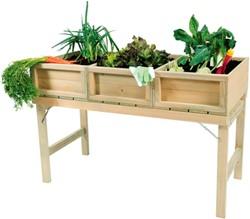 Woodvision minigarden kweektafel, afm. 120 x 61 x 80 cm, geïmpregneerd grenen