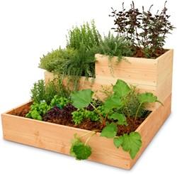 Woodvision minigarden, hoek, afm. 100 x 100 x 60 cm, douglas hout