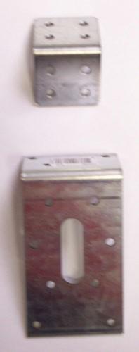 Hoekanker, afm. 40 x 60 x 60 mm, verzinkt