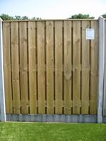 hout/betonschutting 10x10, 24-planks tuinscherm, lichtgewicht beton wit, per 0,95 m-1