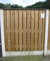 hout/betonschutting 12x12, 24-planks scherm, geïmpregneerde deksloof, antraciet beton, per 0,94 m-1