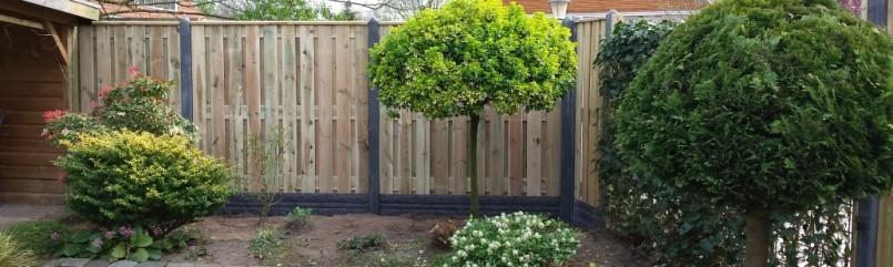 Met een hout/betonschutting 12 x 12 kiest u voor degelijkheid en kwaliteit
