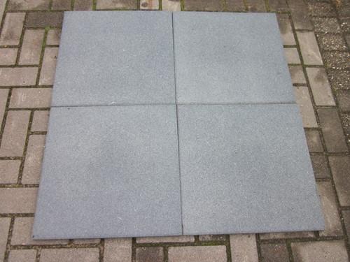 Rubbertegel, afm. 50  x 50 x 3 cm, grijs-2