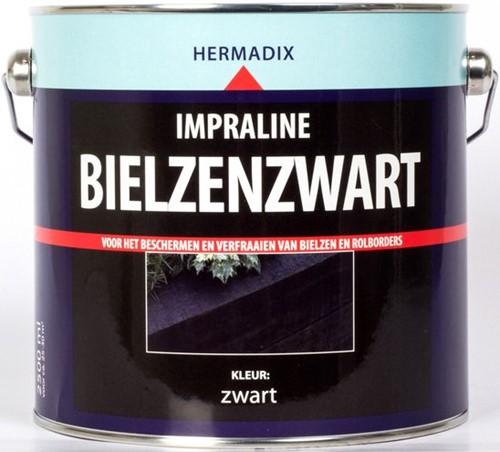 Hermadix impraline bielzenzwart, blik 2,5 liter