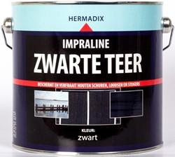 Hermadix impraline zwarte teer, blik 2,5 liter