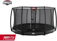 BERG Elite inground trampoline grijs met veiligheidsnet