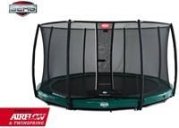 BERG Elite inground trampoline groen met veiligheidsnet