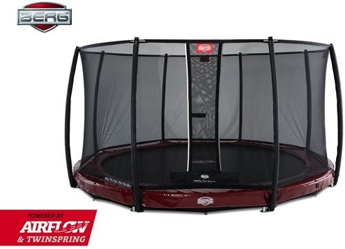 BERG Elite inground trampoline rood met veiligheidsnet