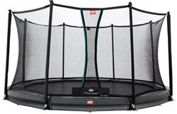 BERG inground trampoline Champion grey, veiligheidsnet Comfort, diam. 330 cm.