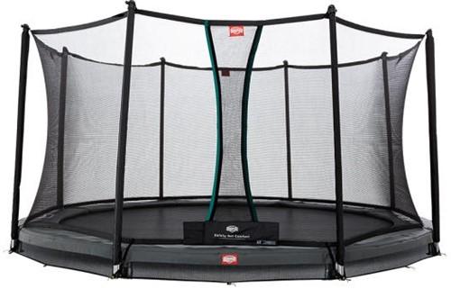 BERG inground trampoline Champion grey, veiligheidsnet Comfort, diam. 380 cm.