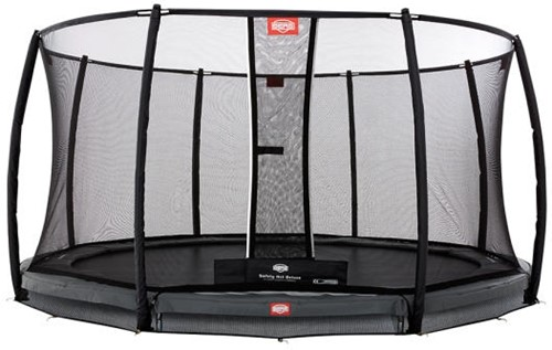 BERG inground trampoline Champion grey, veiligheidsnet Deluxe, diam. 330 cm.