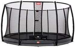 BERG inground trampoline Champion grey, veiligheidsnet Deluxe, diam. 380 cm.