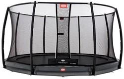 BERG inground trampoline Champion grey, veiligheidsnet Deluxe, diam. 430 cm.