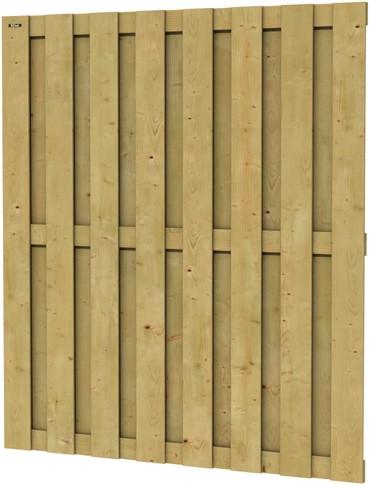Hillhout tuinscherm Jumbo, afm. 200 x 180 cm, geïmpregneerd vuren