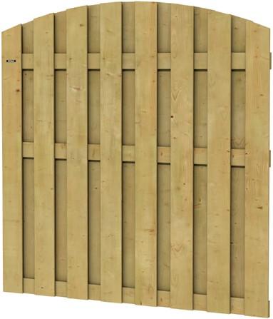 Hillhout toogscherm Jumbo, afm. 180 x 165/180 cm, geïmpregneerd vuren