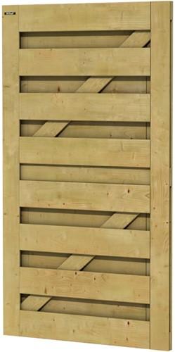 Hillhout tuindeur Jumbo, afmeting 100 x 180 cm, geïmpregneerd vuren