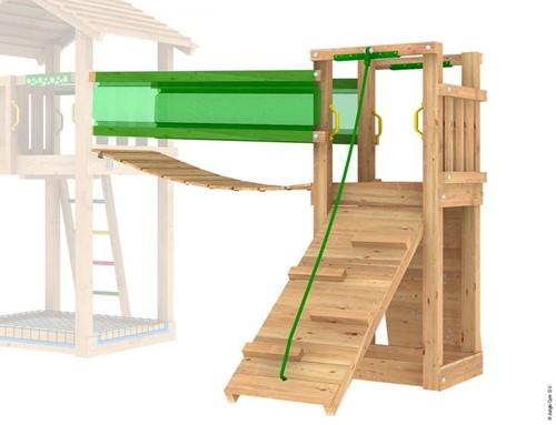 Jungle Gym Bridge Link, houten hangbrug