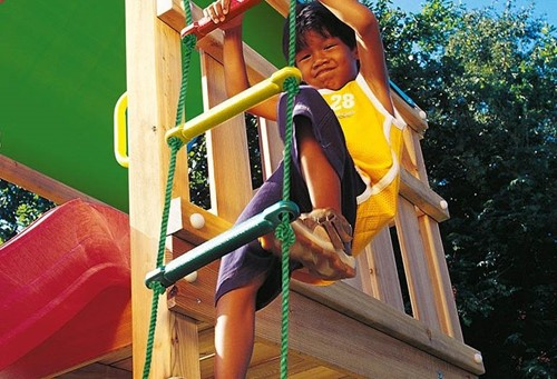 Jungle Gym touwladder, kunststof treden