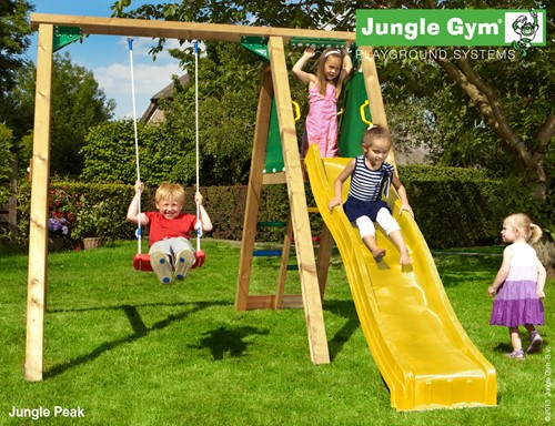 Jungle Gym schommel Jungle Peak,  incl. glijbaan, compleet basic