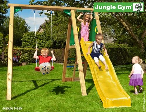 Jungle Gym, schommel Jungle Peak, incl. glijbaan, compleet op maat
