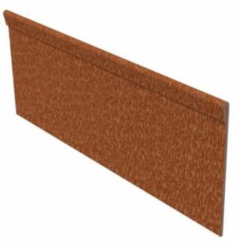 kantopsluiting corten staal 230 x 15 cm, geplet 2 mm dik, p/stuk