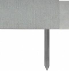 Staallight kantopsluiting, 110V, afm. 250 x 0,3 x 11 cm, inclusief 5 aardnagels