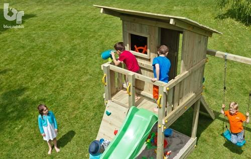 Blue Rabbit 2.0 - toren 'beach hut' , incl. houtpakket en glijbaan-2