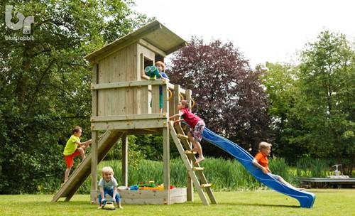 Blue Rabbit 2.0 - speeltoren Beach Hut , incl. houtpakket en glijbaan