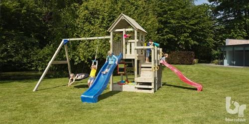 Blue Rabbit 2.0 - toren 'penthouse', incl. houtpakket en glijbaan-2
