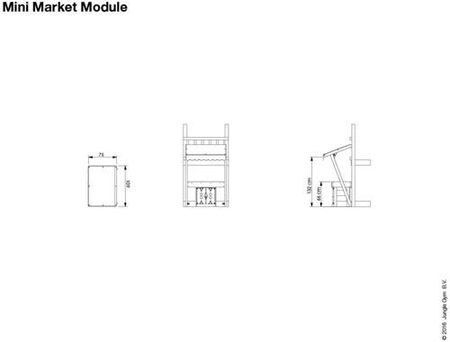 Houtpakket voor Jungle Gym Mini Market Module, niet op maat gezaagd-3